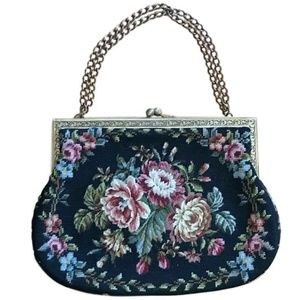 Vintage Floral Carpet Bag